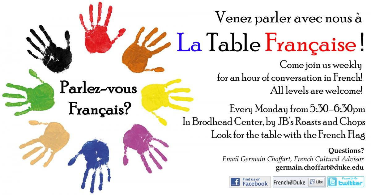 La Table Francaise Flyer